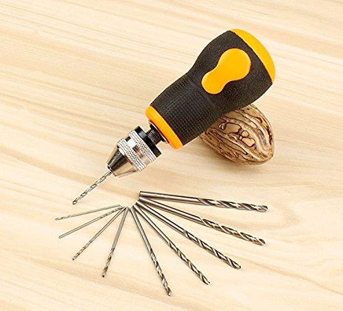 WEICHUAN Mini Hand Drill with 10PCS Micro Twist Drill (Mini Drill)