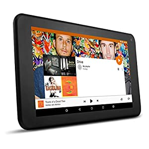 "Ematic 7"" HD 16GB Quad-Core Tablet with Android 5.1, Lollipop, Google Play, Bluetooth, Dual Camera, (Black)"