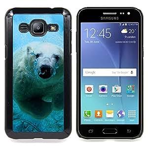 SKCASE Center / Funda Carcasa protectora - Natación linda del oso polar;;;;;;;; - Samsung Galaxy J2 / J200