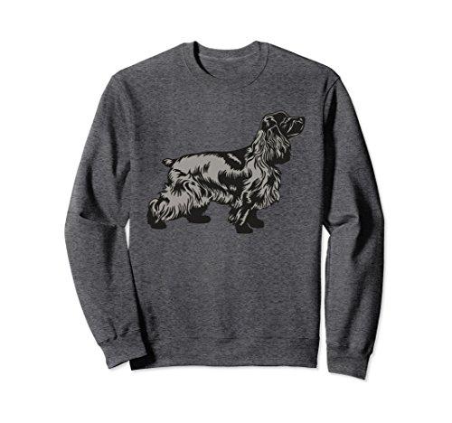 Unisex English Cocker Spaniel Dog Breed Sweatshirt Gift Animal Dogs Medium Dark ()
