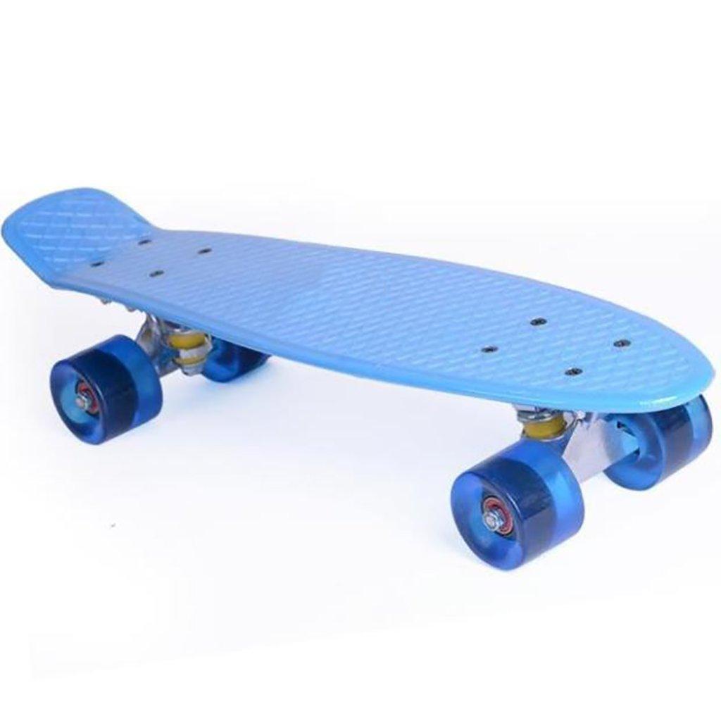 YONGLIANG 屋外の魚の形のスケートボードの子供の大人のPUラウンド厚いプラスチック耐摩耗性のフラッシュ 青 (色 : B07BSK6VYX 青) B07BSK6VYX (色 青, イバラシ:8ca0534f --- integralved.hu