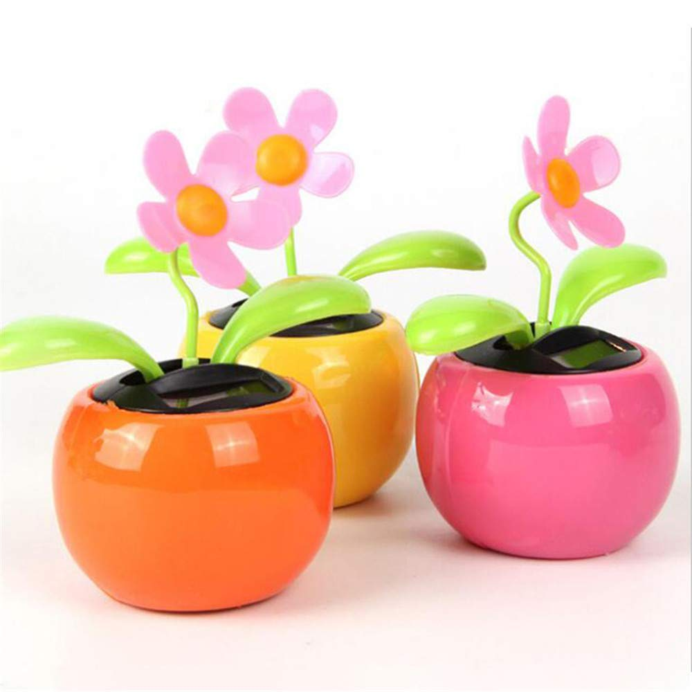 Ovovo Dancing Flowers Solar Powered Dancing Flowers in Colorful Pots Car Dashboard Office Desk Home Décor