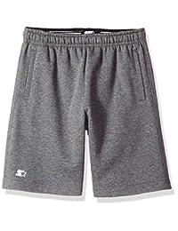 "Starter Boys' 8"" Lightweight Fleece Shorts with Pockets, Amazon Exclusive"