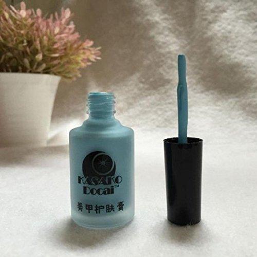 Pele chiodo Liquido nastro Peel Off strato base unghie arte liquido Palisade - 15 ml, color di rosa 1 blu YAKO