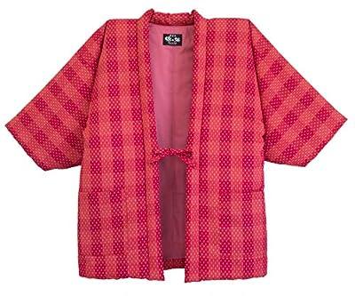 WATANOSATO Lattice arare Pattern Hanten (Made in Japan Kimono-Style) Womens Size