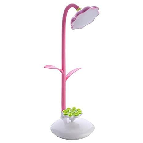 Mia nbaoshu Dimmbare verde LED Lámpara de escritorio para niños, Noche Lámpara de mesa con sensor táctil, per USB recargable de lectura flexible y 360 ...