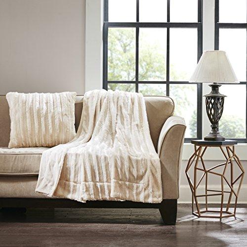 ERROR:#N/A Duke Faux Fur Square Pillow Ivory 20x20