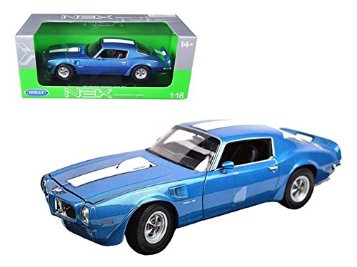 Welly 12566bl 1972 Pontiac Firebird Trans Am Blue - Pontiac Engine Blue