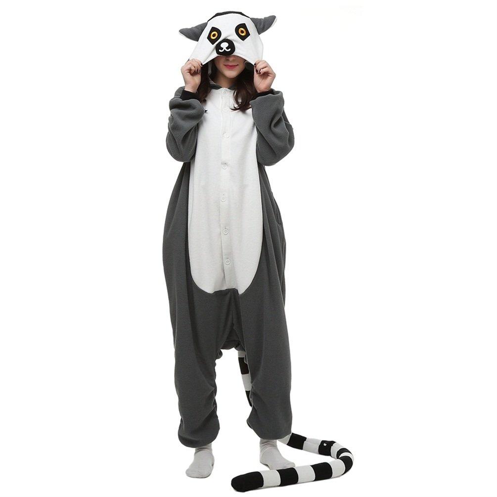 Jusebridal Unisex Sleepsuits Pajamas Cosplay Costumes Adult Sleepwear Carton Lemur S