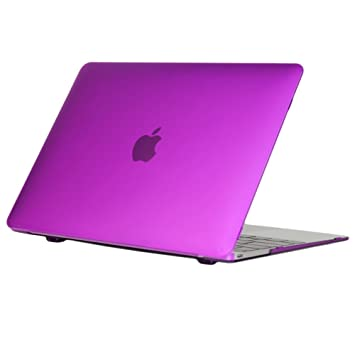cc14cd20fe88 iPearl mCover Hard Shell Case for 12-inch MacBook (with 12-inch Retina  Display and USB-C Connector, Model A1534) (Purple)