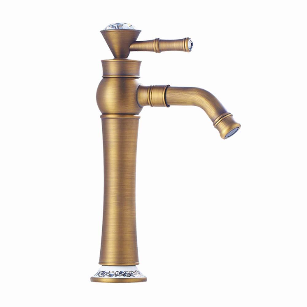 GJR-L Moderne Klassische einfache einhand-einlochmontage Bad waschbecken Wasserhahn bleifreien warmen und kalten mischhahn Chrom