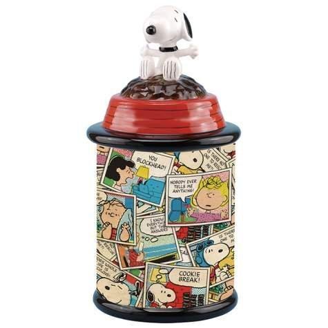 Westland Giftware Snoopy Ceramic Cookie Jar, Multicolor