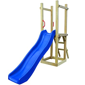 vidaXL Children Kids Playhouse Set with Slide Ladder Climbing Frame ...