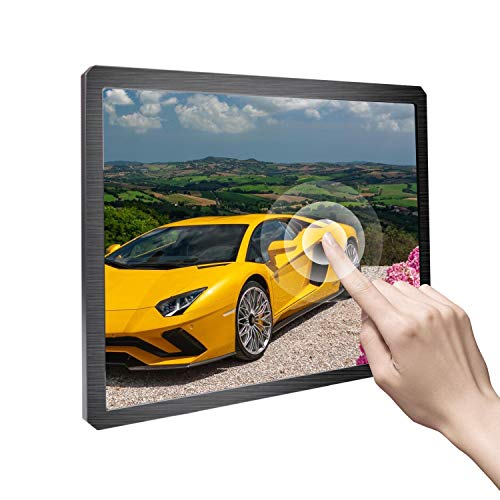 Portable Monitor 12.3 inch Touchscreen Monitor IPS Display Built-in Speaker Resolution 1600X1200 Support HDMI/Micro USB/DC/DVI/VGA/Audio Input fit for PS3 PS4 Xbox ONE 360 Security Computer Cellphone