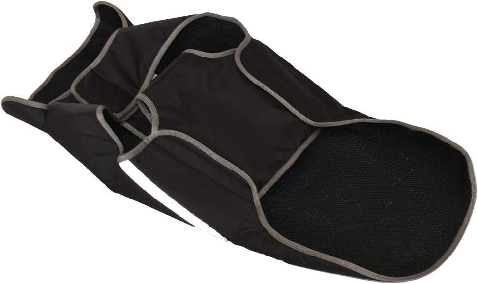 BlackDoggy Full Deckung Wasserdichter Regenmantel Jacke mit Atmungsaktives Material und Reflektierende Streifen