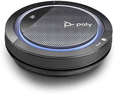 Plantronics mobiler Konferenzlautsprecher Calisto 3200-M mit USB-A Anschluss Voll-Duplex-Audio Microsoft Teams Schwarz