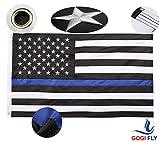 [GOGIFLY] - 3x5 Foot - Thin Blue Line USA Flag - American Police Flag - ...
