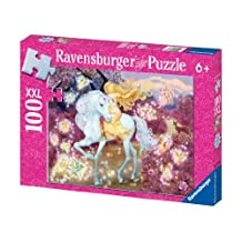 Ravensburger Riding in the Woods - 100 pc Glitter Puzzle