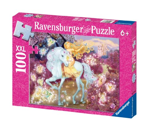 Ravensburger Riding in the Woods - 100 Piece Glitter Jigsaw Puzzle for Kids – Every Piece is Unique, Pieces Fit Together Perfectly