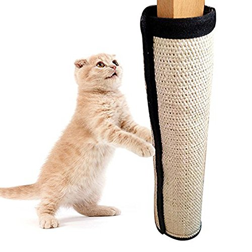 Alotm Fashionable Cat Scratching Pad, Cat Scratch Mat with Flexible Materials & Features Velcro Backing for Wrapping Around Table, Couch, Chair, Furniture Leg to Prevent Furniture Scratching