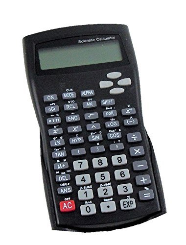 Scientific Calculator Battery Operated 2 Line Display with Hard Cover and Plastic Keys - 240 Functions by Studio Art