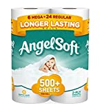 Angel Soft Toilet Paper, Bath Tissue, 6 Mega Rolls