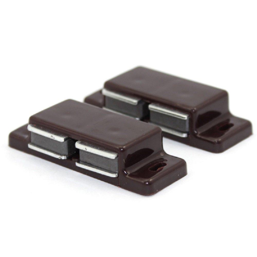 Hettich Magnetschnäpper Türschnapper für Küche Schranktüren Zuhause Möbel Türmagnet Schnapper Möbelmagnet Türverschluß Magnetverschluss Starke Haltekraft 4kg Weiß (2 x 2 Stück)