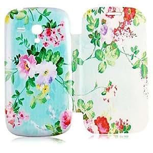 ZXC Flower Pattern Full Body Case for Samsung Galaxy S3 Mini I8190