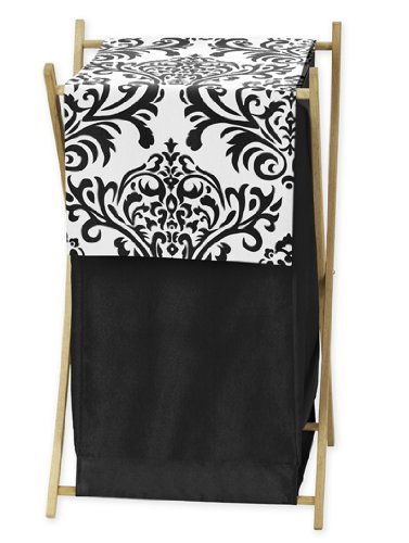 Sweet Jojo Designs Baby and Kids Clothes Black and White Isabella Laundry Hamper (Isabella Baby Furniture)