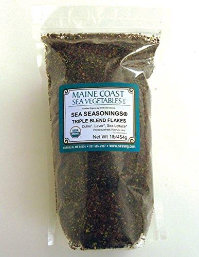 Maine Coast Sea Vegetables - Sea Seasonings Organic Triple Blend Flakes - 1 Pound