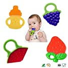 Baby-Touch. Baby Premium 4-set Silicone Teether-toys, for infant & toddler. Eco friendly, BPA free, Non-Toxic, Freezer-safe. Easy For Baby To Hold. Relieves Sore Gums, Fun Colors. Free Ebook-Gift