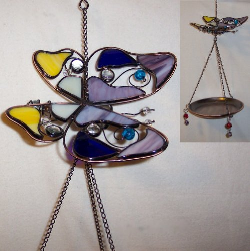 Multicolored Glass Butterfly Bird - Lynnwood Glass