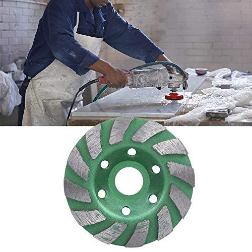 Fictor 100 * 20 * 4ミリメートル椀状のダイヤモンドセグメントコンクリート花崗岩の石のために砥石カップディスク(グリーン)