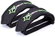 ROCK BROS Bike Pedal Straps 1 Pair Pedal Straps Toe Clips Straps Tape for Fixed Gear Bike Adult BMX Mountain &