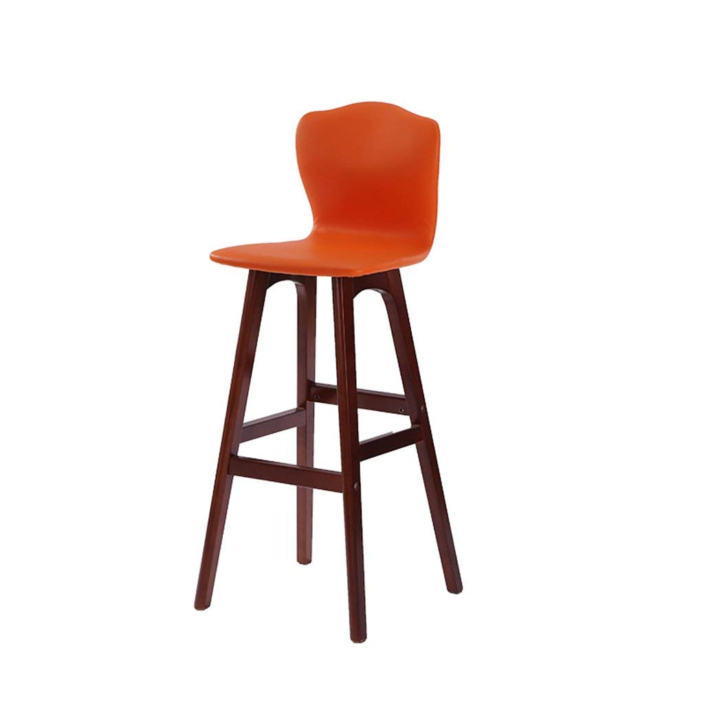 D JZX Chairs Stools, Backrest Bar High Solid Wood Chair,High End Atmosphere Chair Stool