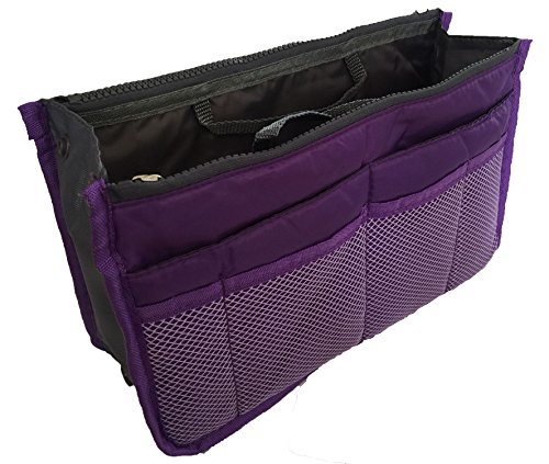 Expandable Travel Insert Handbag Organizer with 13 Pockets by Perfect Life - Cyber Gucci Monday Sale