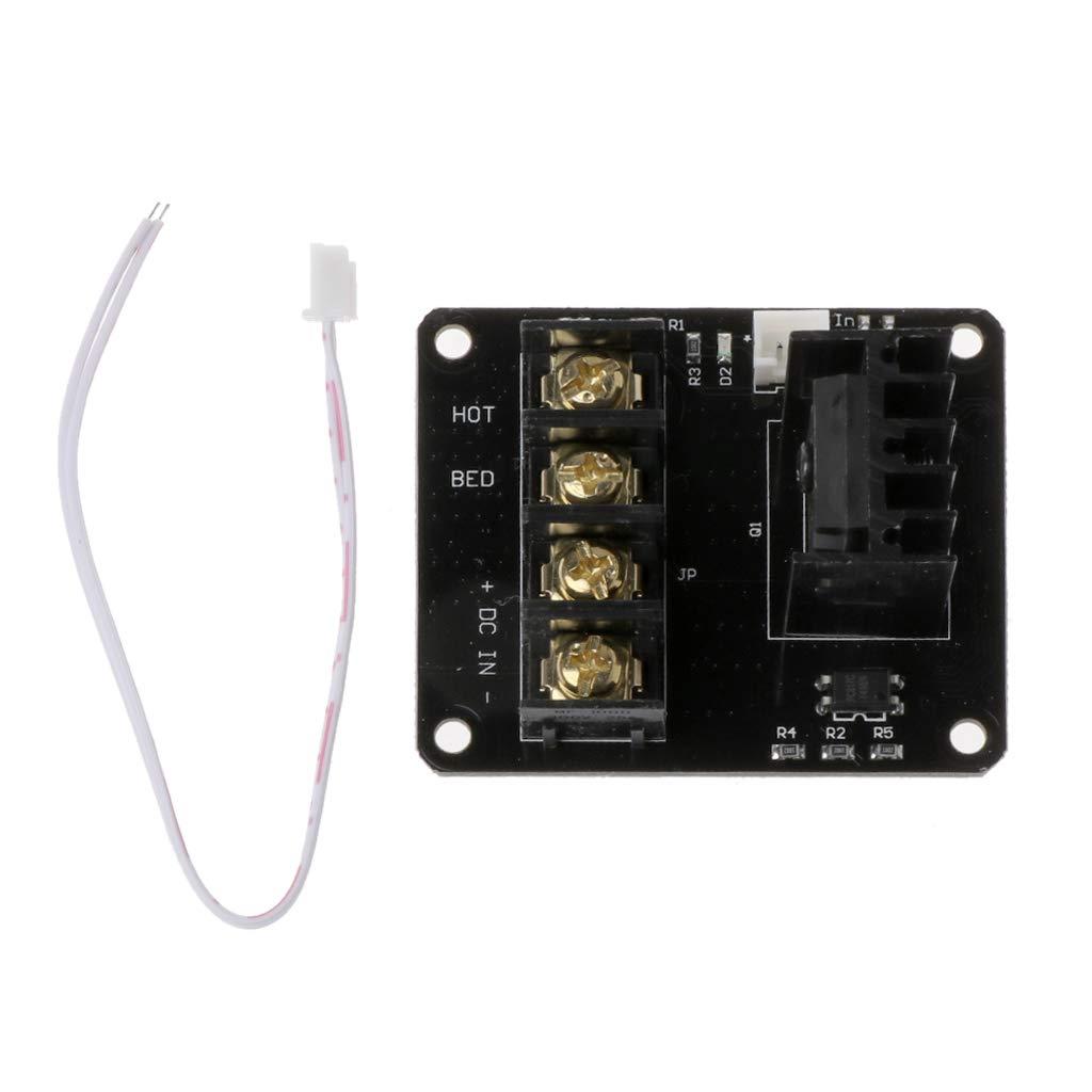 Rongzou - Módulo MOSFET para Cama calefactora (Cable de 2 Pines ...