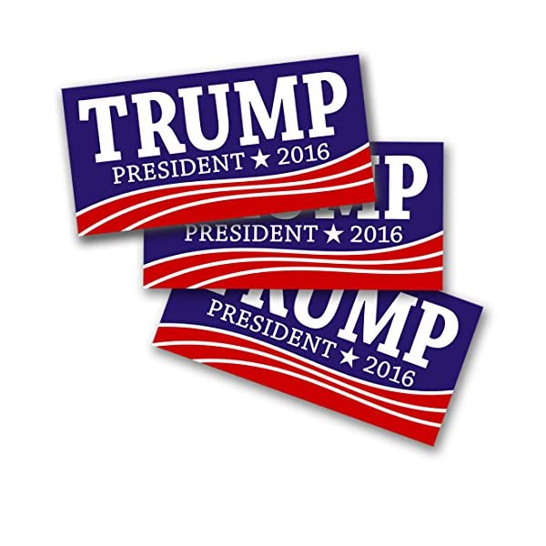 Donald-Trump-2016-3-pack-Bumper-Stickers-By-Button-Deli-For-President