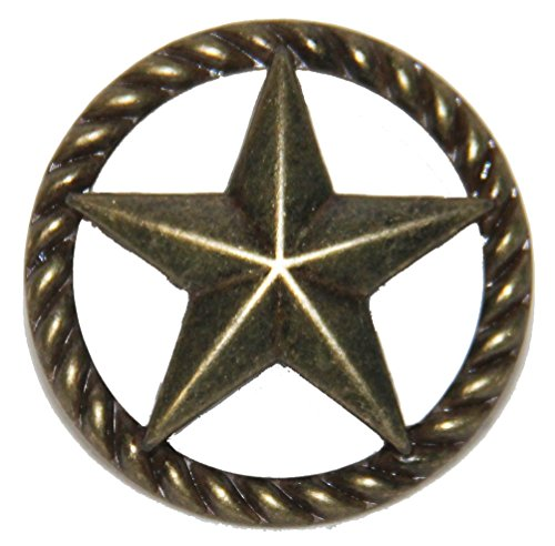 Set of 24 Thin Rope and Star Drawer Pulls Cabinet Knobs Western Southwest Decor Texas (Antique ()