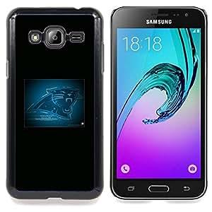 - Carolina Panther NFL - - Cubierta del caso de impacto con el patr??n Art Designs FOR Samsung Galaxy J3 Queen Pattern