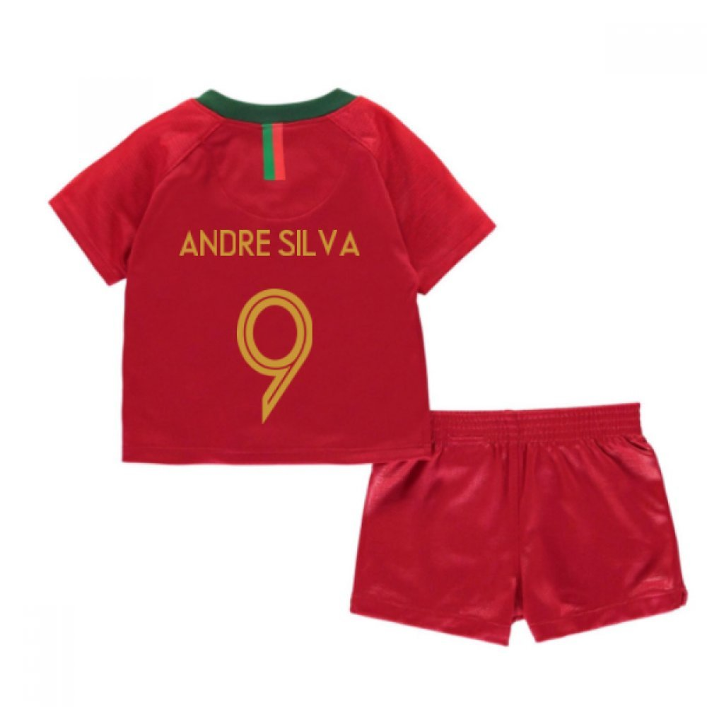 Red 9 12 Months 2018-2019 Portugal Home Nike Baby Kit (Andre Silva 9)