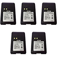 Tenq 5pack 1500mah Ni-mh Replacement Battery for Motorola Radios Mag One Bpr40 A8 Pmnn4071 Pmnn4071a Pmnn4071ar + Belt Clip