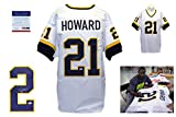 Desmond Howard Signed Custom Jersey - PSA/DNA - Autographed w/ Photo - White