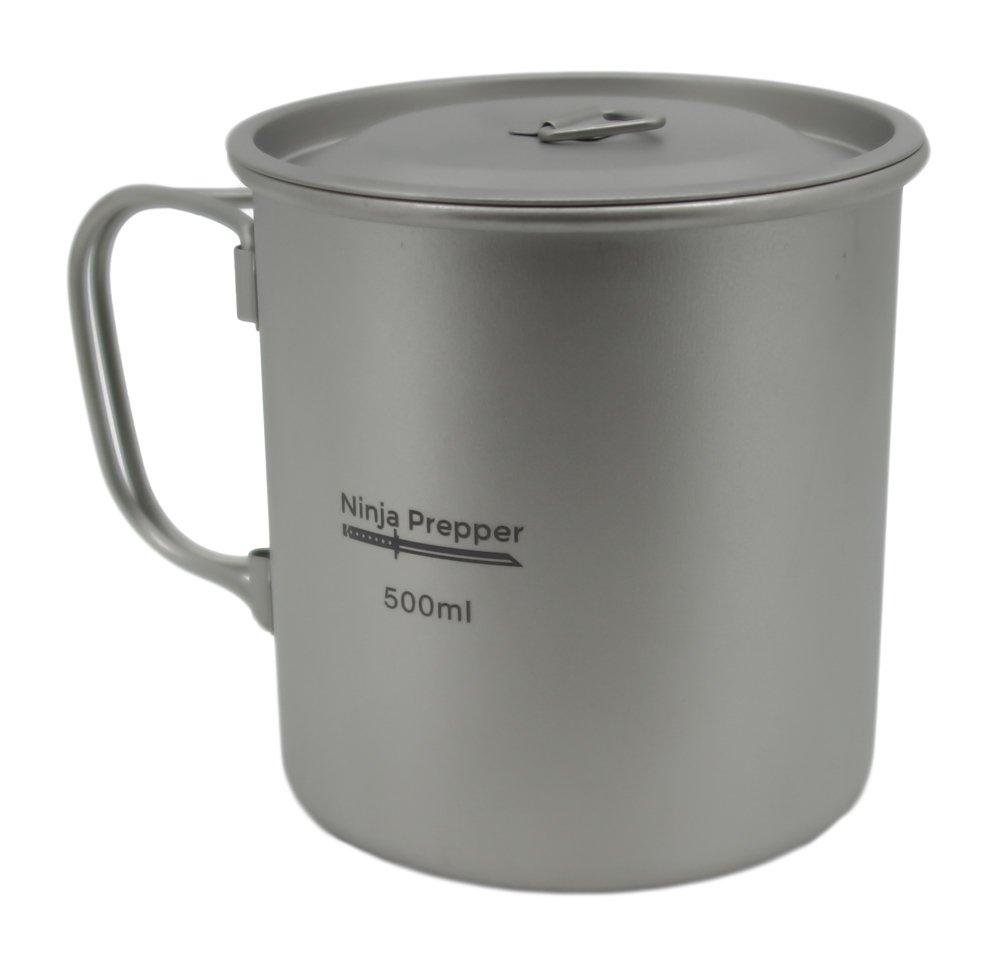 Furi Titanium Mug with Lid (500ml)