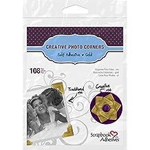 3L 01625-MP Scrapbook Adhesives Self Creative Paper Photo Corners, Gold, 108 Pack, Set of 10