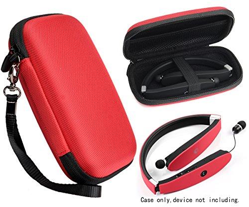 Wireless Foldable Neckband Bluetooth Headphones Case for NEXGADGET, SMARTOMI Hap-2, EGRD, HOBEST, Moche, Fetta, dostyle, Senbowe, Levin,Dylan, pkman, Bestyoyo, ATC, VICTA, AVIVANT, souldio, Red