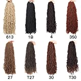 24 Inch 6 Packs Nu Faux Locs Goddess Curly Wavy