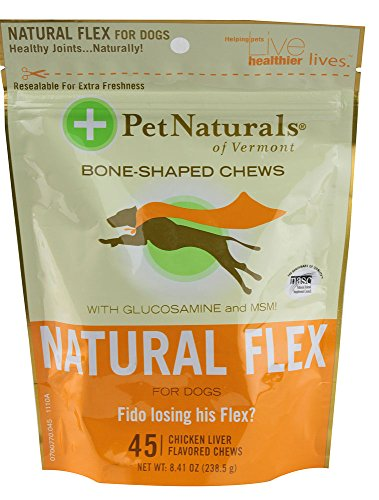Pet Naturals of Vermont Natural Flex For Dogs, 45 chews
