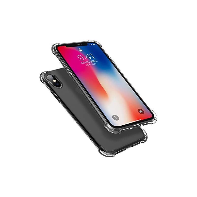 iPhone XS Case, iPhone X Case,Yoyamo Crystal Clear Case Non Slip Shockproof Case with TPU Air Bumper Protection for Apple iPhone XS/X