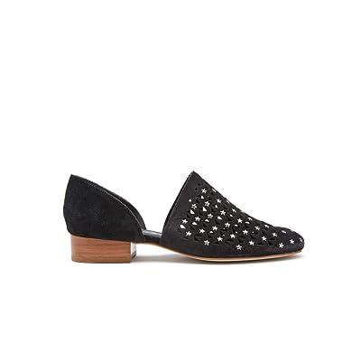 Matisse Womens Constellation Black Leather Star Studded Flats | Flats